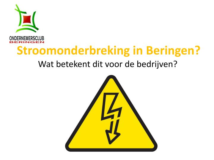 Stroomonderbreking in beringen