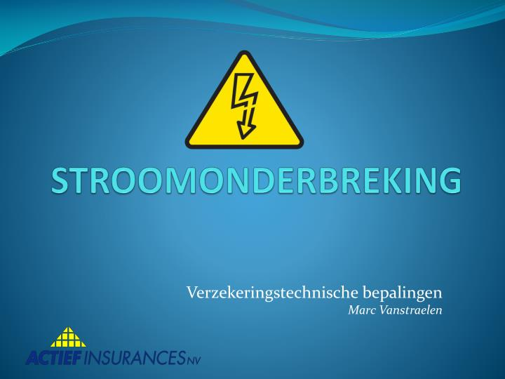 STROOMONDERBREKING