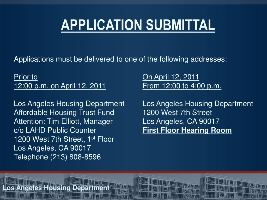PPT - Los Angeles Housing Department Affordable Housing