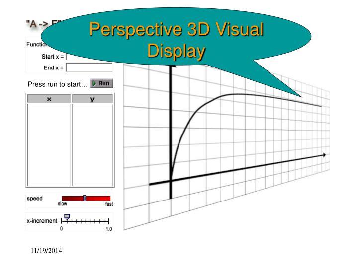 Perspective 3D Visual Display