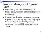 database management system dbms