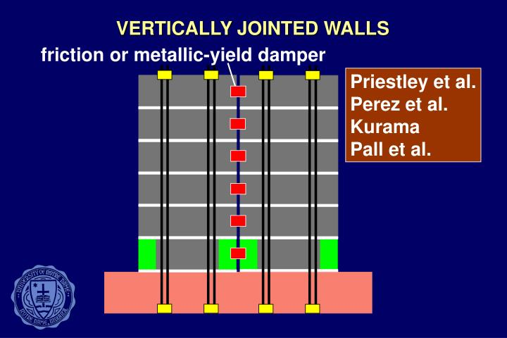 VERTICALLY JOINTED WALLS