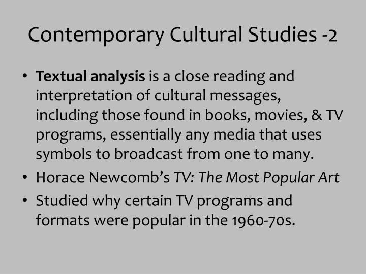 Contemporary Cultural Studies -2