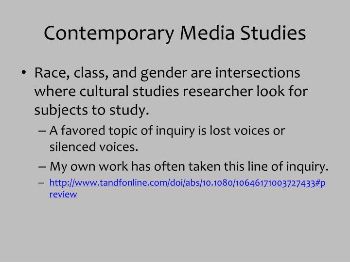 Contemporary Media Studies