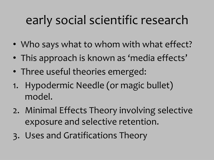 early social scientific research