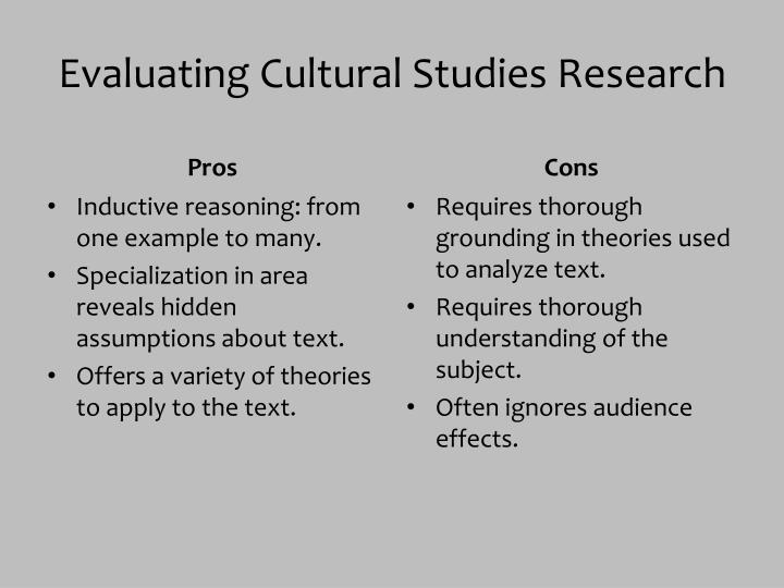Evaluating Cultural Studies Research