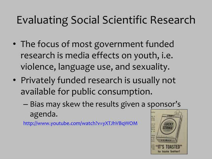 Evaluating Social Scientific Research