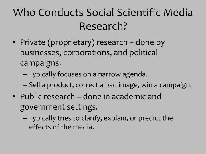 Who Conducts Social Scientific Media Research?