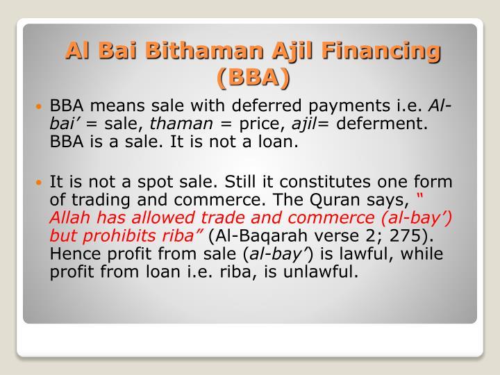 bai bithaman ajil Bai bithaman ajil the bay' al-inah controversy in malaysian islamic banking islamic home financing through musharakah mutanaqisah and al-bay' bithaman ajil contracts a comparative analysis isra two-tier mudarabah as a mode of islamic financial intermediation islamic leasing (ijarah) al.