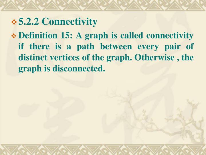 5.2.2 Connectivity