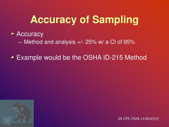 Accuracy of Sampling