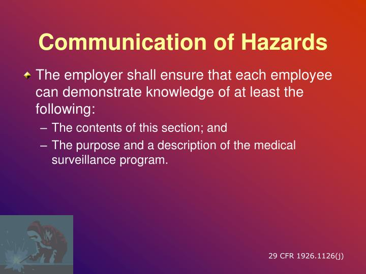 Communication of Hazards