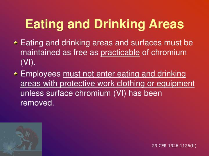 Eating and Drinking Areas