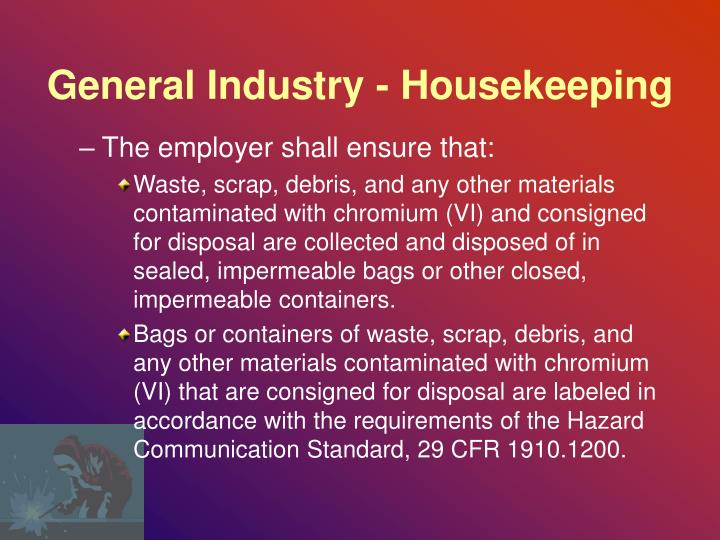 General Industry - Housekeeping