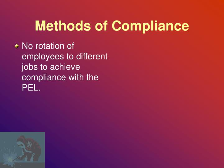 Methods of Compliance