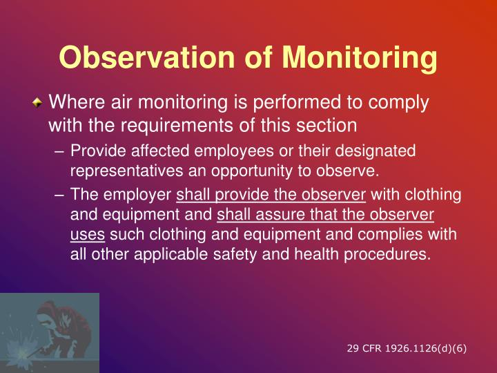 Observation of Monitoring