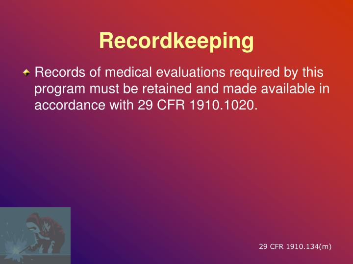 Recordkeeping
