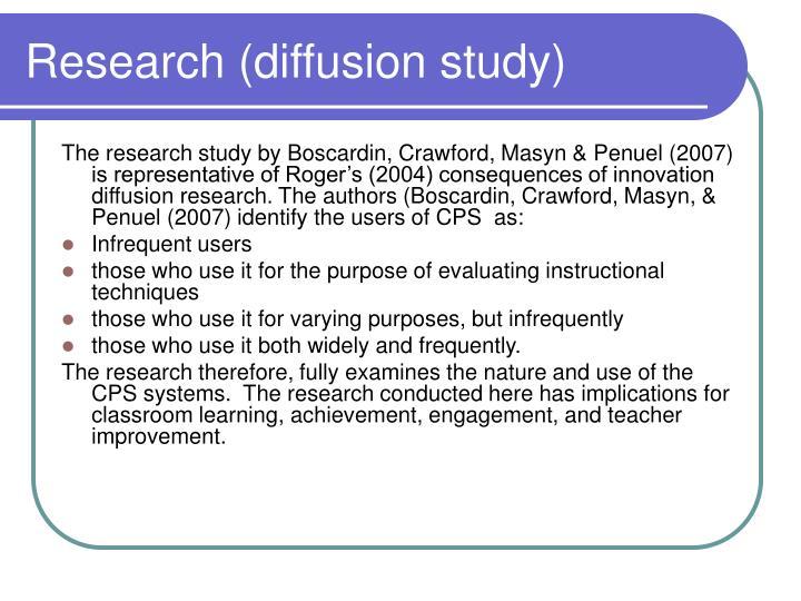 Research (diffusion study)