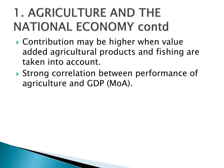 1 agriculture and the national economy contd