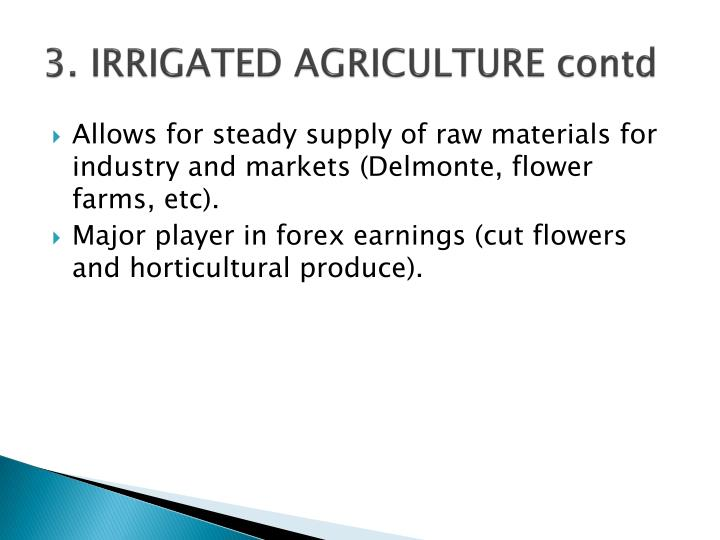 3. IRRIGATED AGRICULTURE