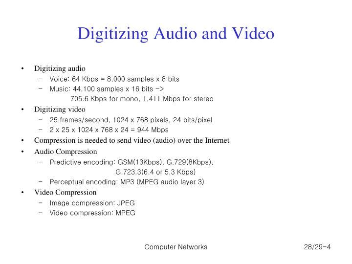 Digitizing Audio and Video