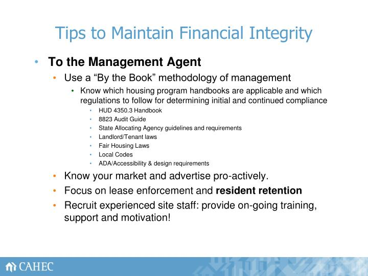 Tips to Maintain Financial Integrity