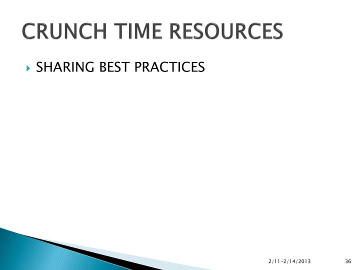 CRUNCH TIME RESOURCES