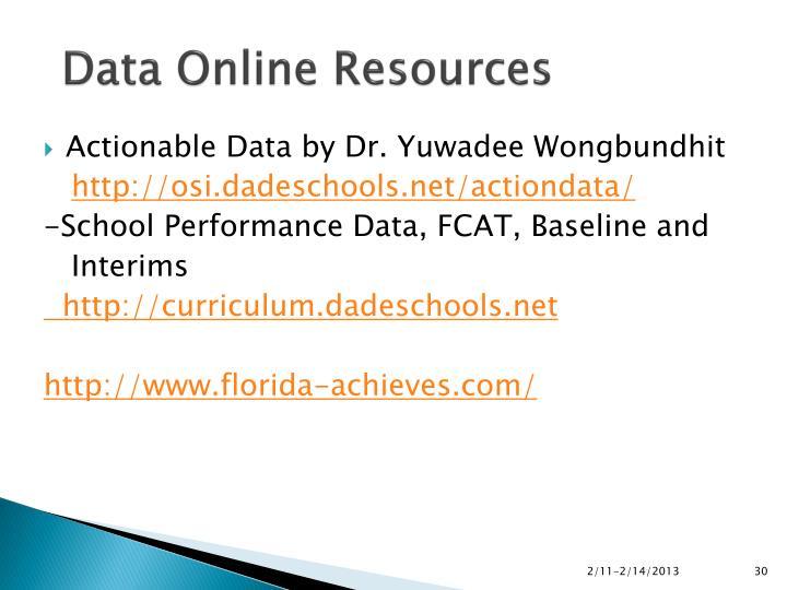 Data Online Resources