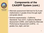 components of the caaspp system cont