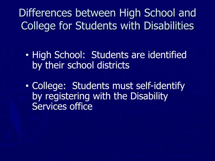 a look at the differences between high school and college The difference between university and college  knowing the difference between high school and college  it's definitely worth taking note of the differences.