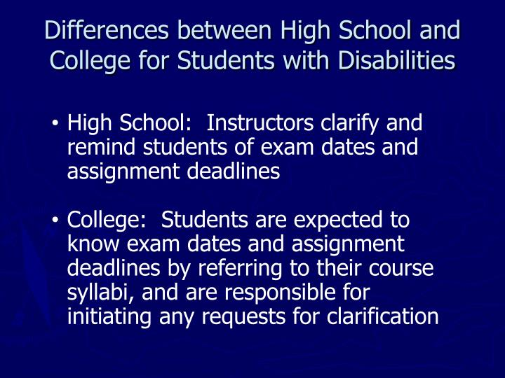 difference between school and college essay The difference between college and high school athletics essays: over 180,000 the difference between college and high school athletics essays, the difference between college and high school athletics term papers, the difference between college and high school athletics research paper, book reports 184 990 essays, term and research papers available for unlimited access.