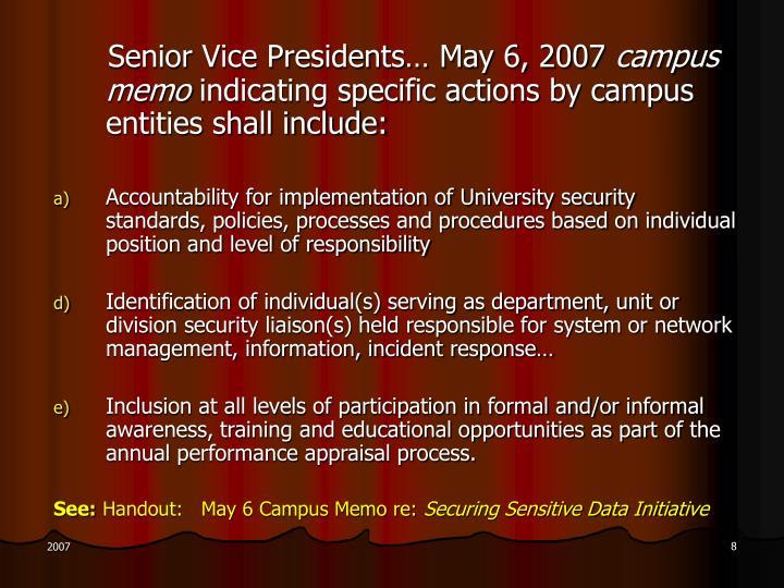 Senior Vice Presidents… May 6, 2007