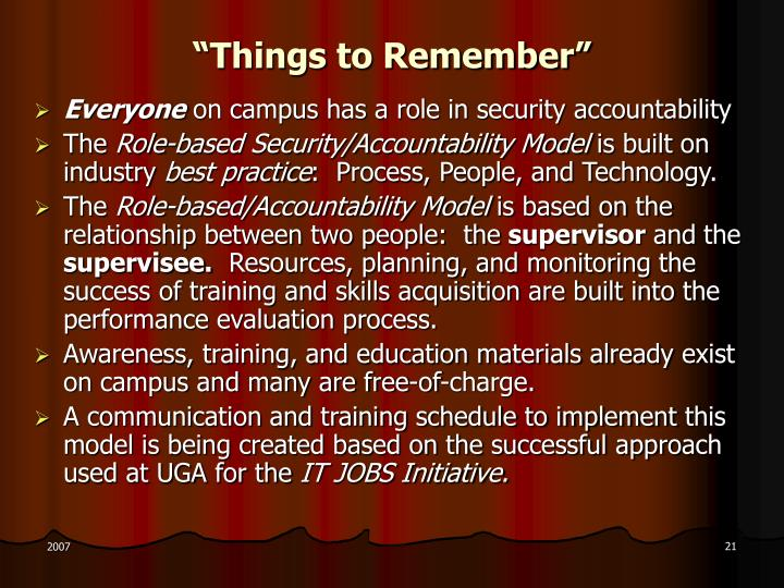 """""""Things to Remember"""""""