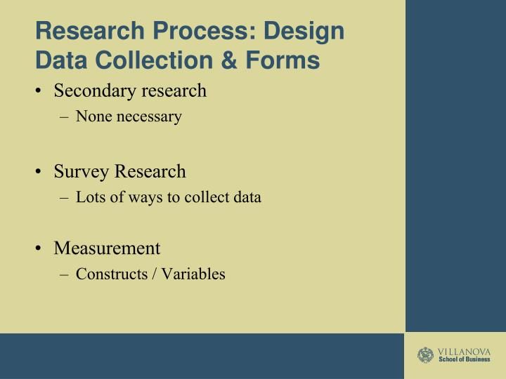 Research Process: Design Data Collection & Forms