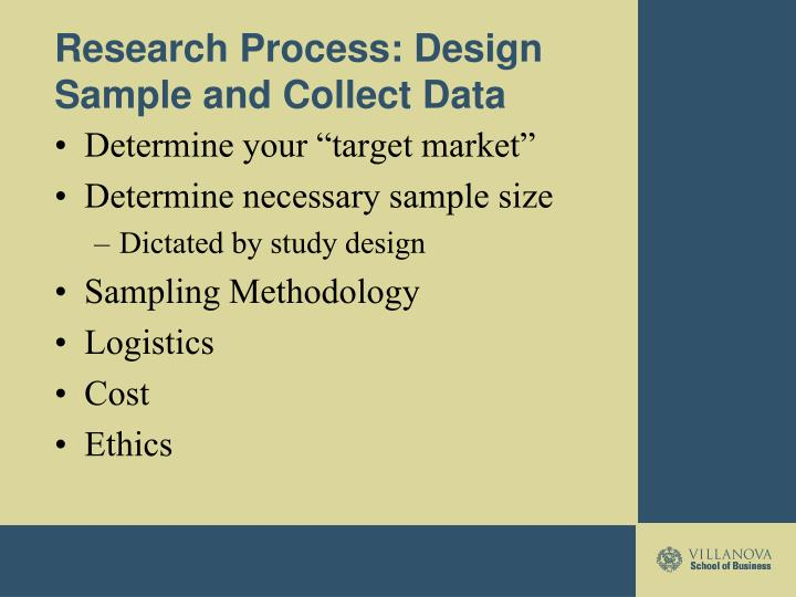 Research Process: Design Sample and Collect Data