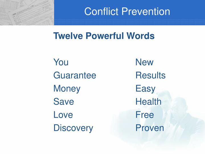 Conflict Prevention