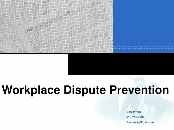 Workplace Dispute Prevention