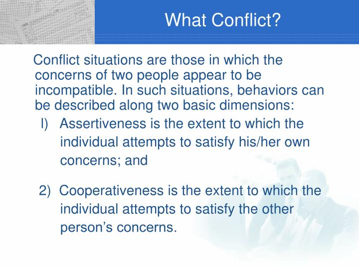 What Conflict?