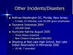other incidents disasters1