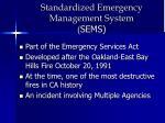 standardized emergency management system sems
