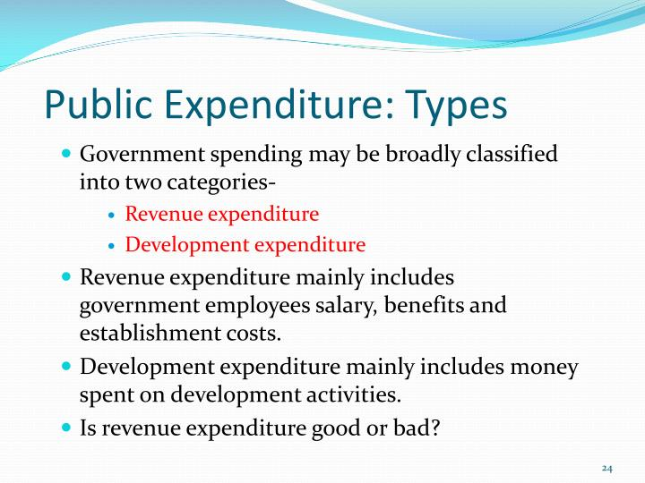 types of public expenditure