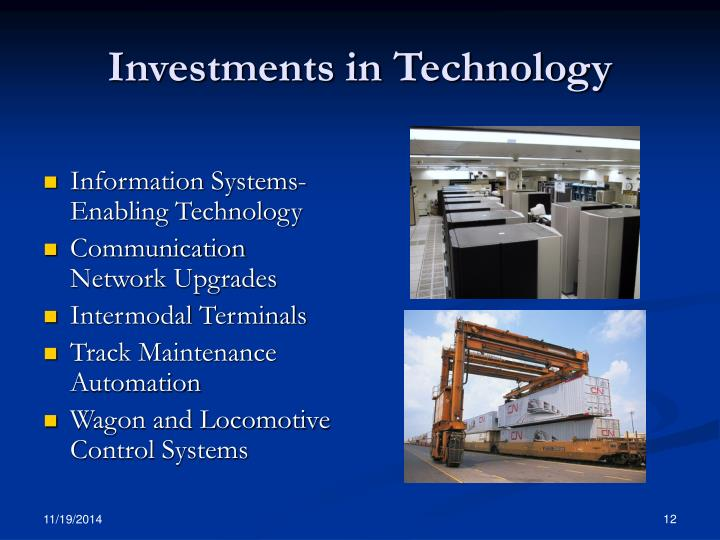 Investments in Technology
