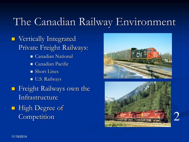 The canadian railway environment
