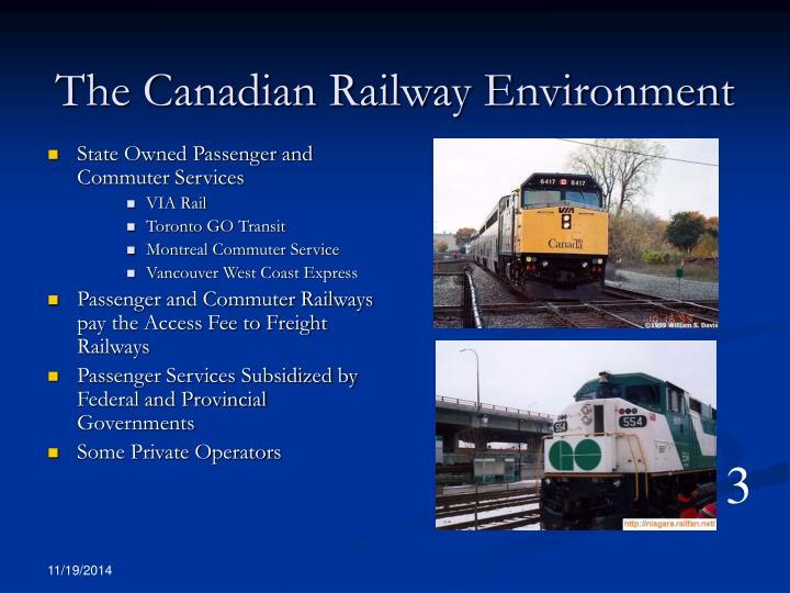 The canadian railway environment1