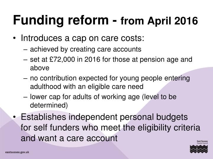 Funding reform -
