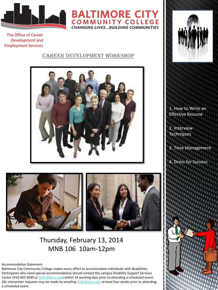 The office of career development and employment s ervices