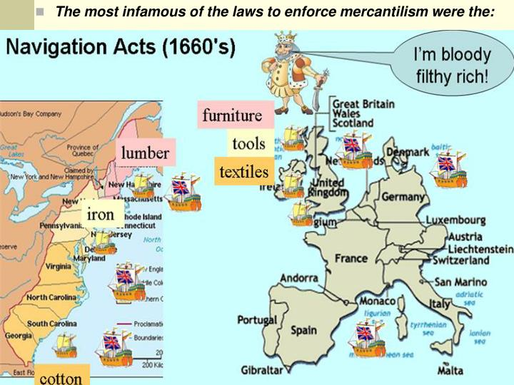 mercantile system Mercantilism dominated economic thought in the west between roughly 1500  and 1800 in the mercantilist system, a colony such as north carolina was.