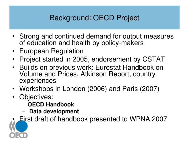 Background: OECD Project
