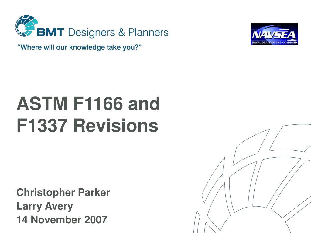 ASTM F1166 PDF