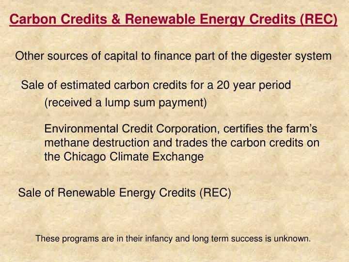 Carbon Credits & Renewable Energy Credits (REC)